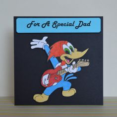 Woody Woodpecker Father's Day Card Hand Drawn Fun 2D by ClazaInk, £3.00
