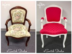 OK - I have the exact chair on the left... ummmm thinking it needs a visit to @Sydnee Feicht Studio - Upholstery & Sewing