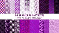 24 Seamless Purple Dot Patterns Free Background Patterns, Vector Pattern, Free Pattern, Dot Patterns, Purple Backgrounds, Premium Fonts, Free Design, Cool Designs, Dots