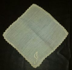 """""""Something Old"""" Brides hanky, made from a diaper she always carried around when she was little."""