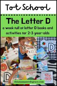 Teaching your toddler or preschooler about the letter D? I have a full week of books, activity ideas, and curriculum to purchase that makes exploring the letter D fun and engaging. #TeachingToddlers #LetterD #AlphabetCurriculum #LittleLearners #ToddlerActivityIdeas