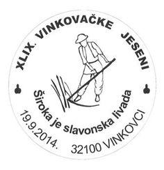 Kroatischer Sonderstempel zum Folklorefest