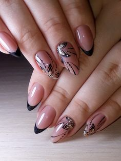 nail art designs classy ~ nail art designs + nail art designs for spring + nail art designs for winter + nail art designs easy + nail art designs summer + nail art designs classy + nail art designs with glitter + nail art designs with rhinestones Manicure Nail Designs, Nail Manicure, Nail Art Designs, Manicure Ideas, Classy Nail Art, Classy Nail Designs, Cute Nails, Pretty Nails, Hair And Nails