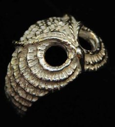 Buho anillo de plata esterlina por SilvernailJewelry en Etsy