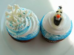 Frozen Theme Cupcakes, @CAKEbyJoelyn
