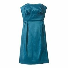 Strapless Sweetheart Shantung Dress - Assorted Color- in the bare canvas color