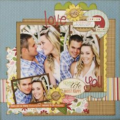 Great design for a couple of big photos and lots of embellishments.