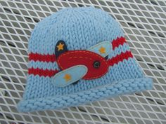 Knitted Baby Hat  Blue Hand Knit Baby Hat Baby by UpNorthKnits, $28.00