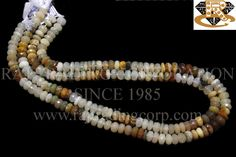 Ethiopian Opal Faceted Roundel (Quality B) Shape: Roundel Faceted Length: 36 cm Weight Approx: 15 to 17 Grms. Size Approx: 6.5 to 7 mm Price $62.40 Each Strand