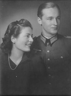 Their Serene Highnesses Prince and Princess Ludwig of Sayn-Wittgenstein-Sayn. Married: 1942