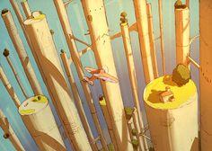 加藤オズワルドさんのツイート… Scenery Pictures, Environment Concept Art, Environmental Design, Manado, Fantasy Landscape, Fantastic Art, Pretty Art, Pixel Art, Art Inspo