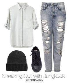 """Sneaking Out with Jungkook"" by btsoutfits ❤ liked on Polyvore featuring Topshop, MANGO and rag & bone"