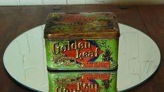 Rare Antique 1898 Golden Leaf Tobacco Collector's Tin
