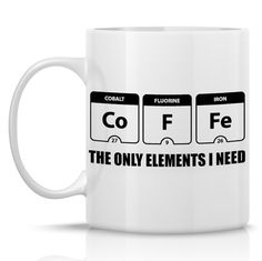 Periodic Table of Elements coffee mug, funny coffee mug, unique coffee mugs, coffee love, coffee lover gift