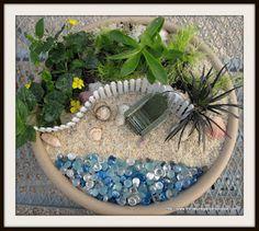 Miniature Fairy Garden Beach Fence in Sand Resin 4.5 x 2.25