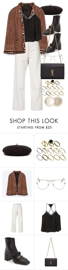 """""""Untitled #9821"""" by nikka-phillips ❤ liked on Polyvore featuring Yves Saint Laurent, ASOS, Ray-Ban, Lemaire, MANGO, Topshop and Paul & Joe"""