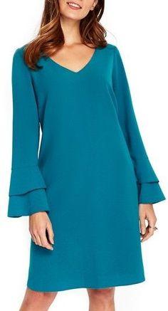 Women's Wallis Bell Sleeve Shift Dress Women's Wallis Bell Sleeve Shift Dress Bell Sleeve Dress, Maxi Dress With Sleeves, The Dress, Sleeve Dresses, Dress Lace, Simple Dresses, Casual Dresses, Fashion Dresses, Short Long Dresses