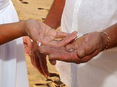 A small, simple, sweet wedding ceremony at Maui's Palauea Beach, aka White Rock Beach. View more images at: http://mauiislandportraits.com/palauea-beach-wedding-maui/