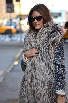 Love fur vest...so classy!