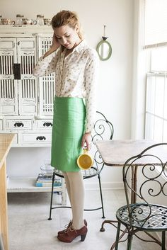 A fun but still classic work outfit.