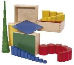 Farbige Zylinder, Lernmaterial nach Montessori, trainiert die Feinmotorik,Hochwertiges Lernspielzeug aus Holz | 6787 / EAN:08854515031033