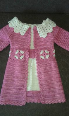 New fashion clothes for kids cardigans Ideas Crochet Dress Girl, Baby Girl Crochet, Crochet Jacket, Crochet Poncho, Crochet For Kids, Crochet Baby Sweaters, Crochet Baby Clothes, Baby Knitting, New Fashion Clothes