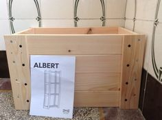 Need a crate but can't find one? Hack on from the ALBERT shelf unit.