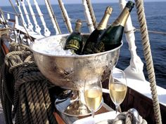 *Sailing and champagne.  Right now would be fantastic.