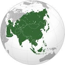 Globe centered on Asia, with Asia highlighted. The continent is shaped like a right-angle triangle, with Europe to the west, oceans to the south and east, and Oceania to the south-east. Orthographic Projection, Hong Kong, Vietnam, Cities, Europe Continent, Bhutan, Pokemon Go, Pokemon Charmander, Tibet