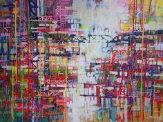 "Saatchi Art Artist Marta Zawadzka; Painting, ""city heartbeat"" #art"