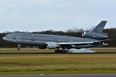 Royal Netherlands Air Force McDonnell-Douglas KDC-10-30 landing at RNLAF Eindhoven Air Force Base