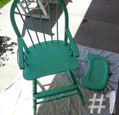 painted wooden highchair - Google Search