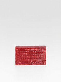 Nancy Gonzalez Croc Box Clutch on shopstyle.com