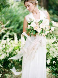 Gown: Babushka Ballerina  - http://www.stylemepretty.com/portfolio/babushka-ballerina- Florals: Trille Floral - http://www.stylemepretty.com/portfolio/trille-floral Photography: We Are Origami Photography - www.weareorigami.com.au   Read More on SMP: http://www.stylemepretty.com/australia-weddings/2017/06/15/a-romantic-garden-elopement-in-australia/