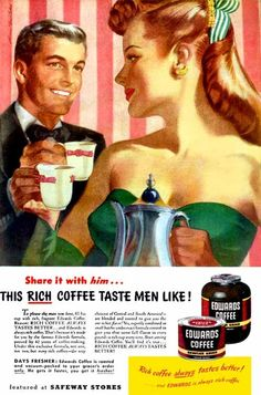 "sunmoonstar: "" the-art-of-romance: "" Tea, for two - Ren Wicks "" "" Vintage Romance, Vintage Love, Vintage Prints, Vintage Posters, Romance Art, I Love Coffee, My Coffee, Coffee Time, Ginger Coffee"