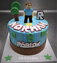 Boys 8th Birthday, Roblox Birthday Cake, Roblox Cake, 8th Birthday Cake, Boy Birthday Parties, Bolo Fondant, Cake Designs For Boy, Mario Cake, Cakes For Boys