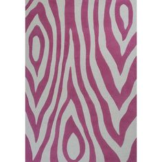 Bring color and a bold look to the room with this rug. It features a abstract pattern in pink and off-white, which can work well in a girl's bedroom. Kids or tween-style rug with a colorful, fun look