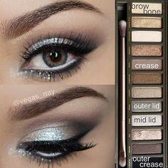 #ShareIG Quem ai tem e ama a  paleta Naked 2 ?? Entao aqui vai mais um tutorial da mega talentosa @vegas_nay , usando a cobicada paletinha!!!! Get inspired . ❌⭕❌⭕ #make #makeup #maquiagem #naked2 #eyemakeup #beaute #beauty #beleza #beautybits #beautytips #dicasdebeleza #dicasdare