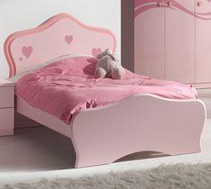 Kinderbett »LIZZY« pink mit herzförmigen Applikationen Jetzt bestellen unter: https://moebel.ladendirekt.de/kinderzimmer/betten/kinderbetten/?uid=b2d48ee5-f943-579f-8437-3cb29c9bdf46&utm_source=pinterest&utm_medium=pin&utm_campaign=boards #jugendzimmer #kinderzimmer #kinderbetten #kutchenbetten #jugendbetten #betten #autobetten