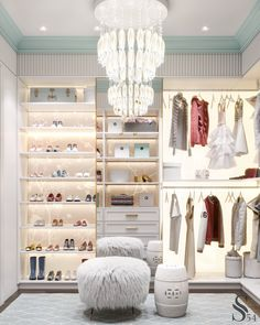 The way you decorate your home is somehow similar to choosing beautiful clothes to wear on a daily basis. An impressive interior decoration of your home or office is essential for your own state of mind, if nothing else. Girls Dressing Room, Dressing Room Decor, Dressing Room Design, Interior Design Inspiration, Room Inspiration, Best Decor, Girl Bedroom Designs, Kids Bedroom Furniture, Luxury Closet