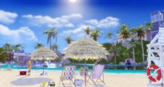 Tropical Beach by Lily Sims for The Sims 4