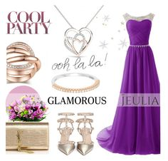 """""""Jeulia Jewelry - Purple Elegance"""" by smasy ❤ liked on Polyvore featuring Valentino, Yves Saint Laurent, women's clothing, women, female, woman, misses, juniors and jeulia"""