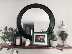 Farmhouse shelf with Mirror