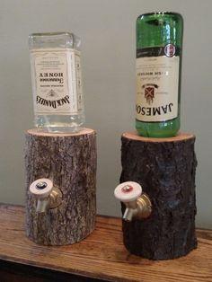 Handmade-Log-Liquor-Dispenser-6