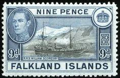 King George VI Postage Stamps: Falkland Islands 1938 (3 Jan) - 50