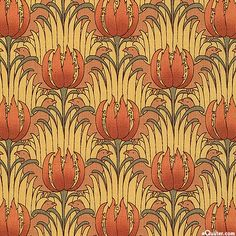 eQuilter Morris Modernized: C.F.A. Voysey - Bird and Tulip - Honey