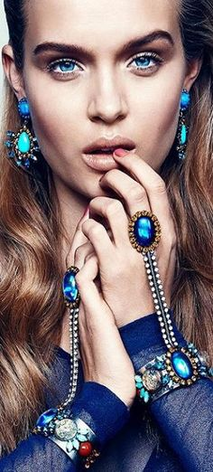 And then there was blue..Dannijo Jewelry 2013 Collection | LBV ♥✤ | KeepSmiling | BeStayElegant