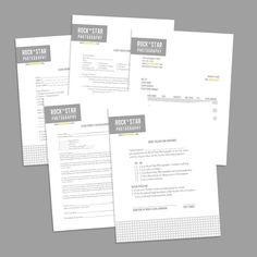 photography business forms