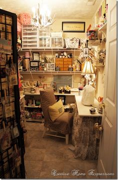 My craft/sewing room.  Where Bloggers Create 2013 : Creative Home Expressions