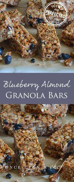 Almond, Blueberry & Date Granola Bars #desserts #desserttable